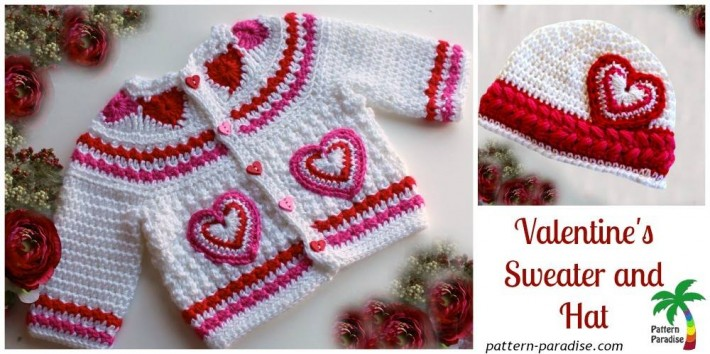 Valentines Baby #Crochet Pattern Set by Pattern Paradise