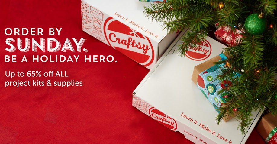 Holiday Hero Sale from Craftsy