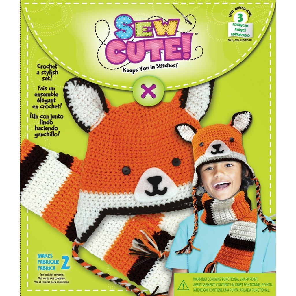 Fox Hat & Scarf Sew Cute! Crochet Kit