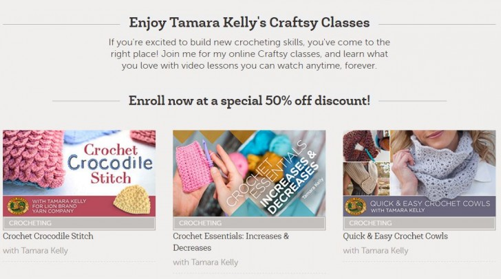 Get Tamara's Craftsy classes for 50% off with this special link!!