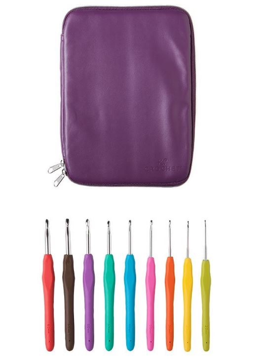 Knit Picks Crochet Hook Set (9 pieces) and Case