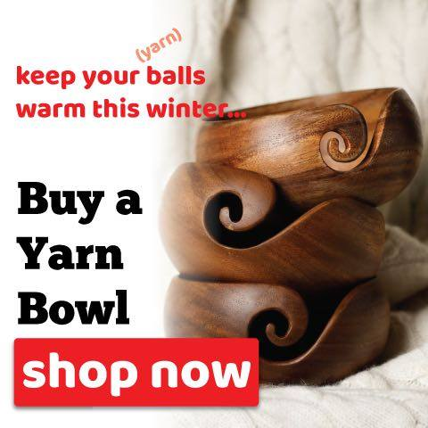 Furls Yarn Bowls - warm and lovely and a great way to keep your yarn safe and flowing to your hook!