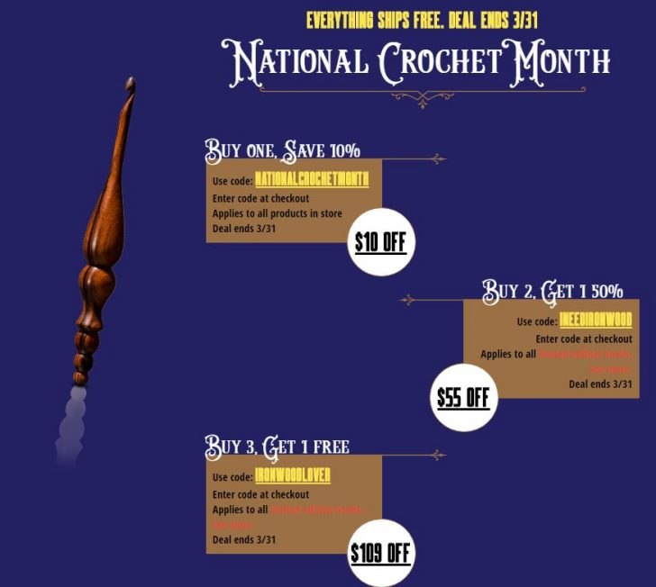 Save money and treat yourself to a genuine Furls crochet hook during National Crochet Month!