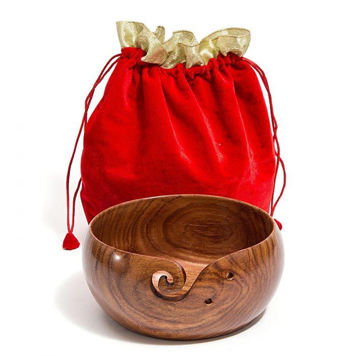 "Hagestad Large 8"" X 4"" Rosewood Yarn Bowl"