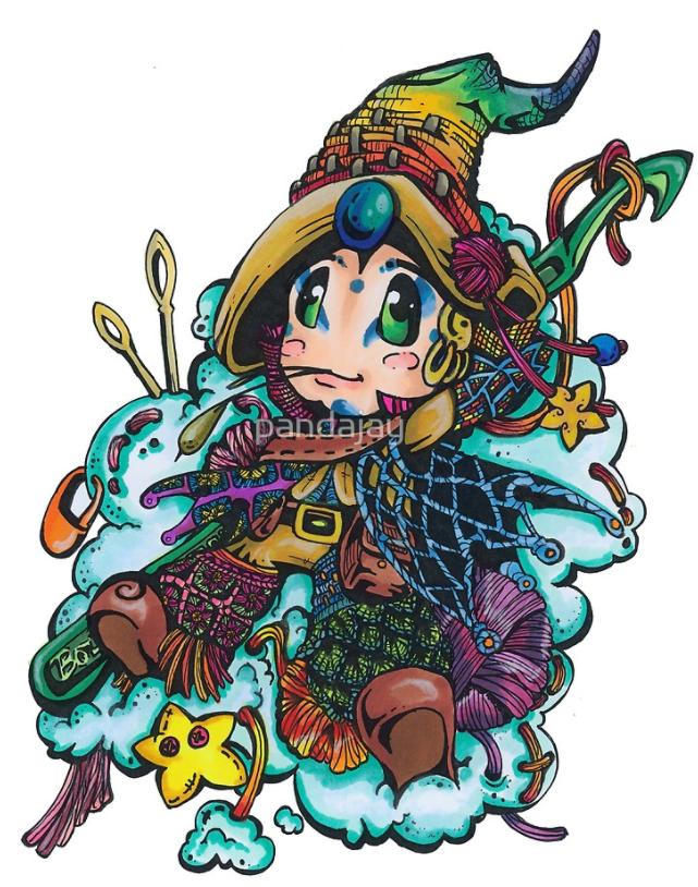 Crochet Wizard artwork by Panadajay