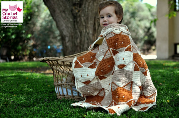 Super Cute Fox Baby Blanket by MyCrochetStories