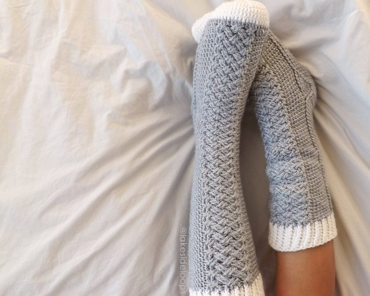 Parker Cable Socks by Lakeside Loops