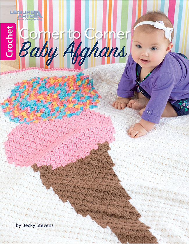 Corner to Corner Baby Afghans - Leisure Arts