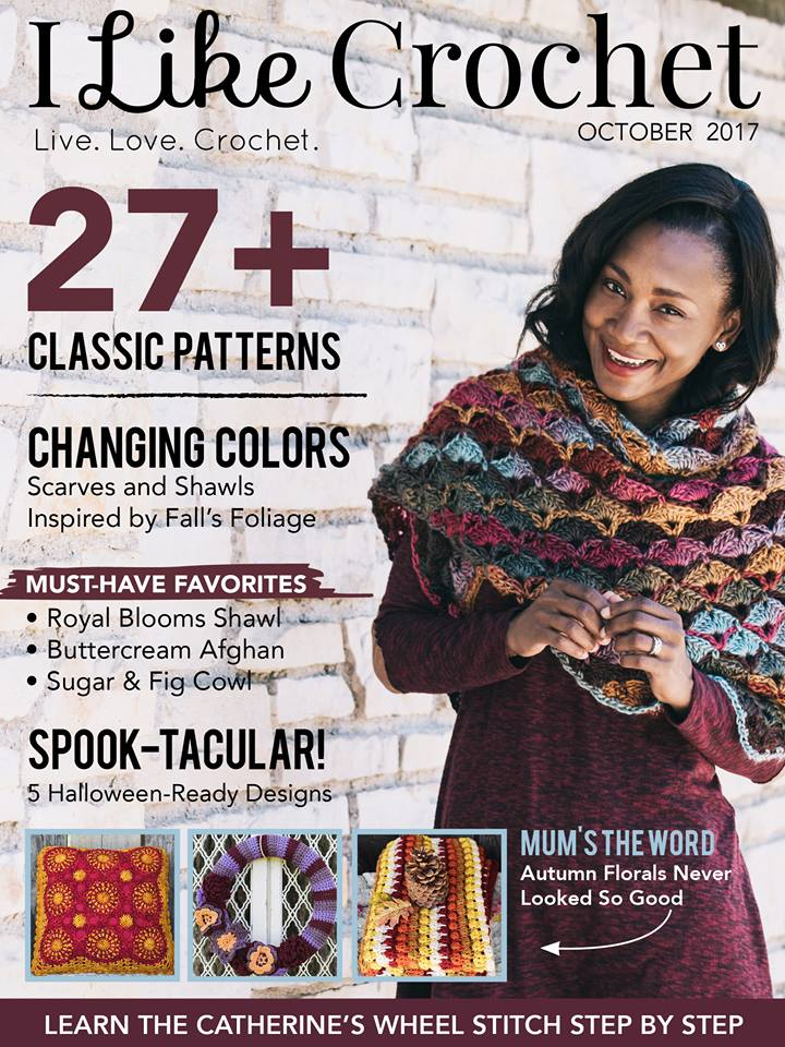 I Like Crochet - October 2017 issue! Full of gorgeous autumn crochet and lots of super cute Halloween costumes to crochet!