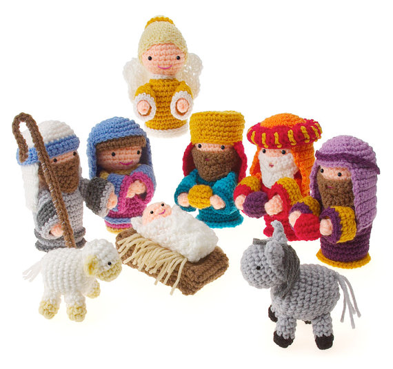 Crochet Amigurumi Christmas Holiday Nativity by Carolyn Christmas - too cute!
