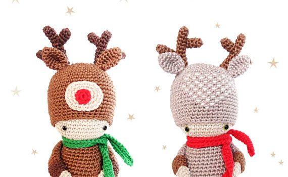 Reindeer Kokeshi Doll Crochet Pattern