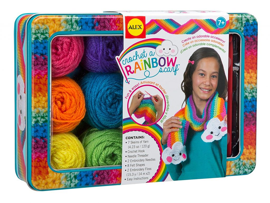 Crochet A Rainbow Scarf