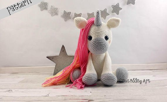 Jupiter the Unicorn doll crochet pattern