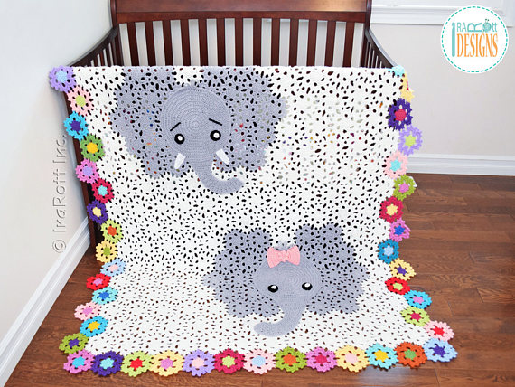 Josefina and Jeffery Elephant Blanket PDF Crochet Pattern