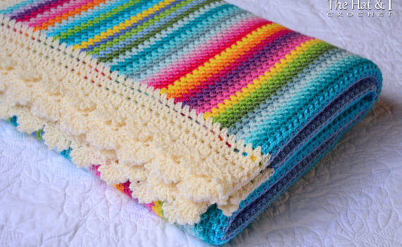 Crayon Box Blanket – brighten up your room with this happy blanket!