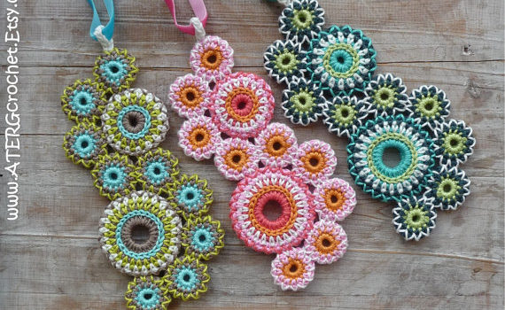 """Circles of Life"" Crochet Necklace Pattern"