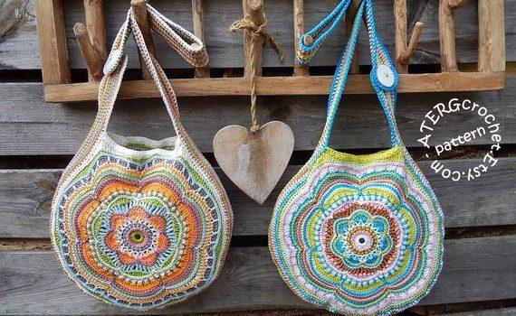 Boho Flower Slouch Bag by ATERG Crochet