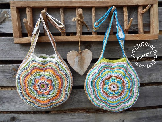 Boho Flower Slouch Bag