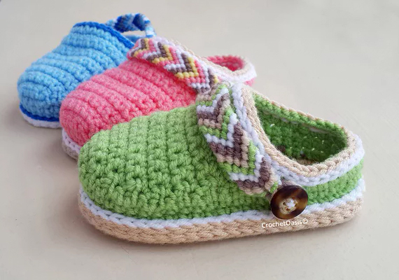 Tribal Baby Clogs by CrochetOasis