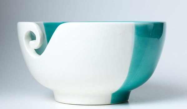Furls Crochet – Ceramic Yarn Bowl (Aquamarine Dreams)