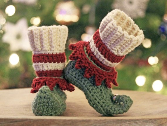 Crochet Elf Shoes