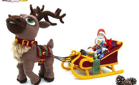 Amigurumi Reindeer Sleigh