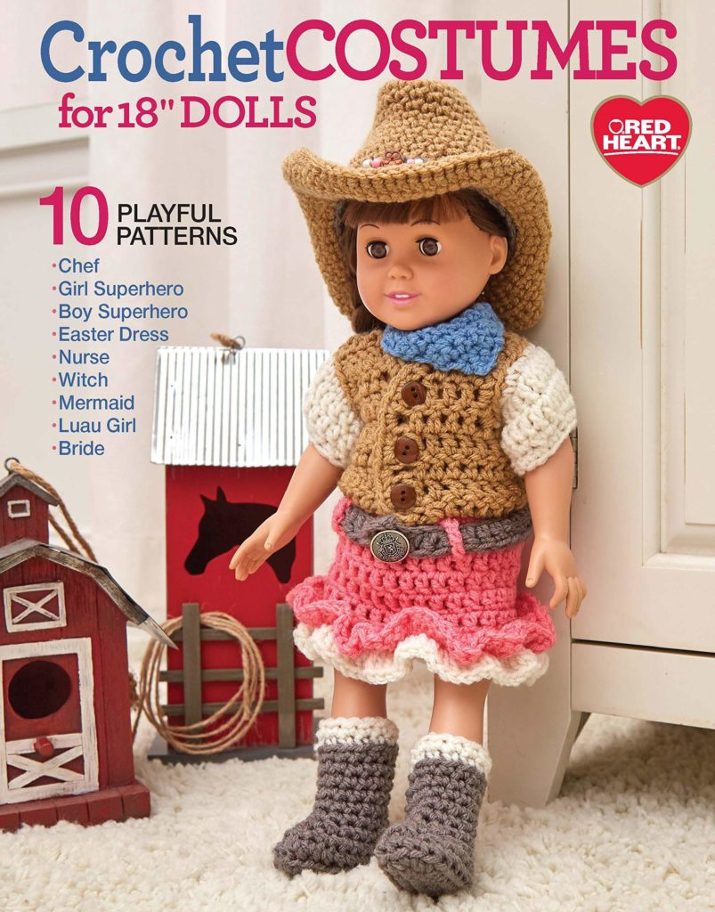 Crochet Costumes for 18' Dolls
