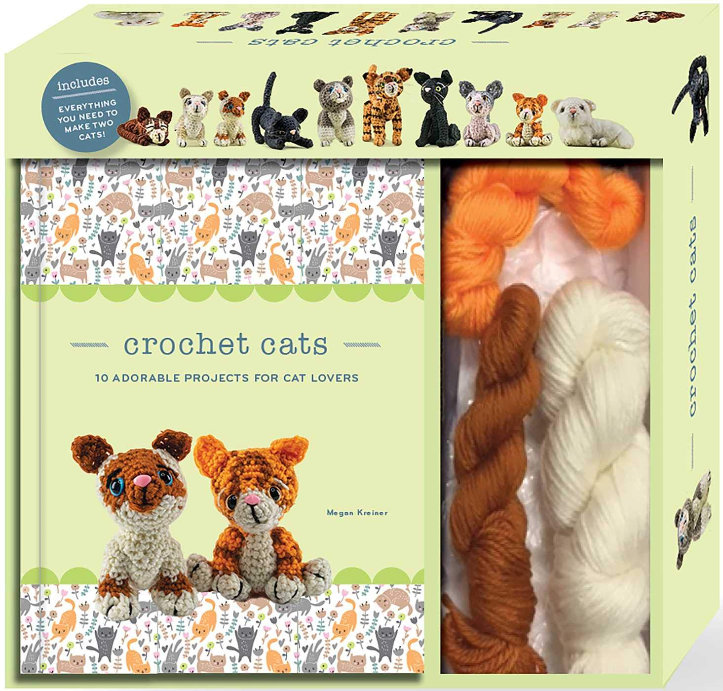 Crochet Cats: 10 Adorable Projects for Cat Lovers - Crochet Kit by Megan Kreiner