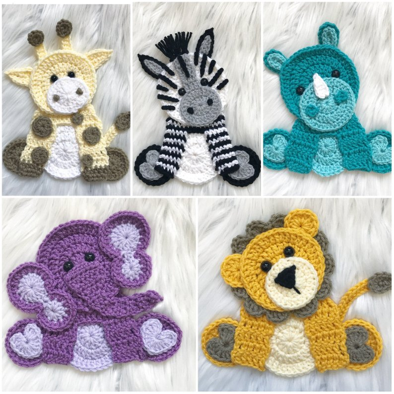 Crochet Zoo Animals by Nellas Cottage