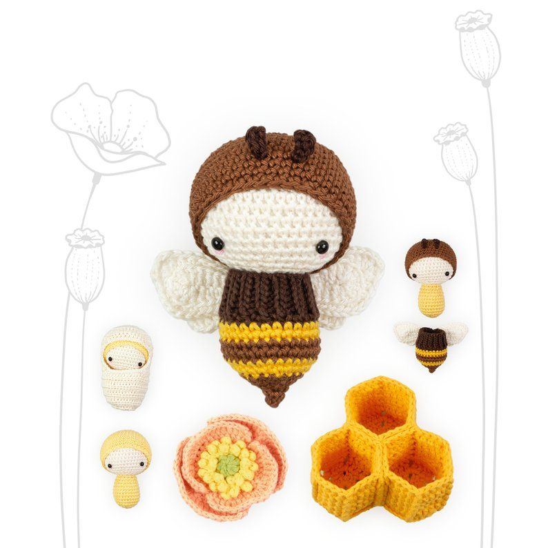 Honey Bumble Bee Poppy