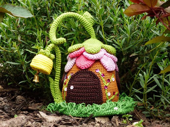 Fairies Cottage Door Stop Crochet Pattern