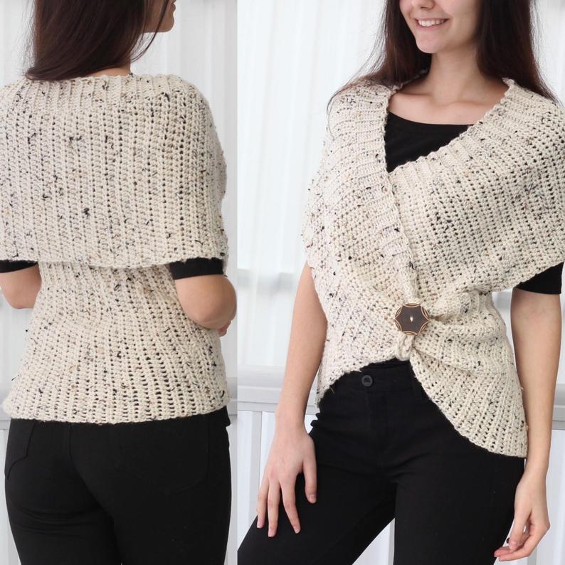 Crochet Infinity Wrap Vest