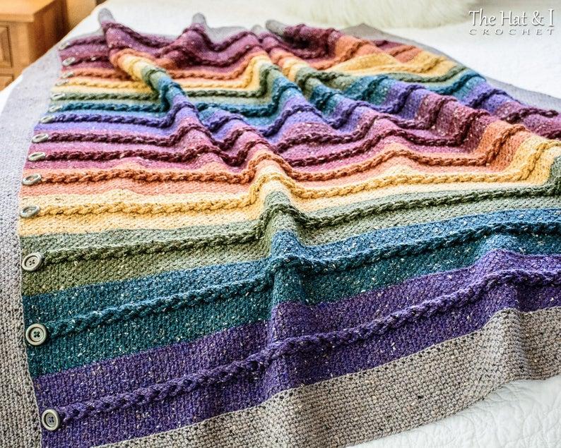 Buttons & Braids Blanket