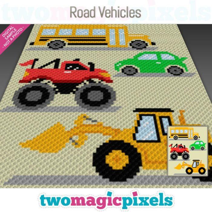Road Vehicles C2C Blanket - Vroom Vroom! - crochet envy